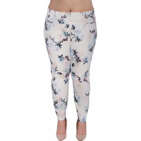 Kwiatowe spodnie cygaretki duże rozmiary OVERSIZE PLUS SIZE WIOSNA