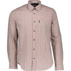 """Koszula """"House"""" - Regular fit - w kolorze czerwono-biało-pomarańczowym. Białe koszule męskie Ben Sherman, w kratkę, z bawełny, button down. W wyprzedaży za 130.95 zł."""
