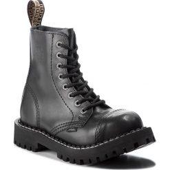 Glany STEEL - 113/O/B Black. Czarne kozaki damskie Steel, ze skóry. Za 269.00 zł.