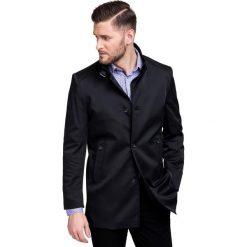 Płaszcz PSCS000045 FLORIANO. Czarne płaszcze męskie Giacomo Conti, na jesień, z materiału. Za 699.00 zł.