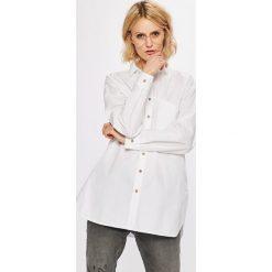 Answear - Koszula Stripes Vibes. Szare koszule damskie ANSWEAR, z bawełny, casualowe, z klasycznym kołnierzykiem, z długim rękawem. W wyprzedaży za 79.90 zł.