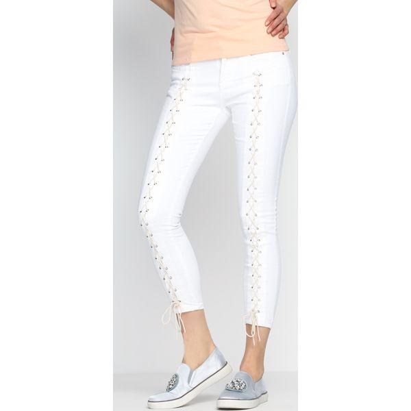 98c0915b Białe Jeansy Long Binding