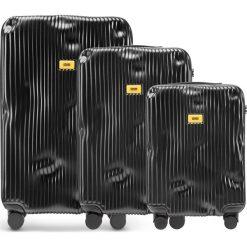 Walizki Stripe w zestawie 3 el. Super Black. Walizki męskie Crash Baggage, z materiału. Za 2,796.00 zł.
