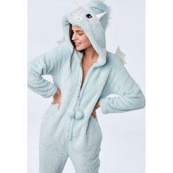 Etam - Kombinezon piżamowy. Szare piżamy damskie Etam, z dzianiny. Za 219.90 zł.