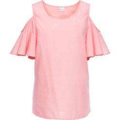 Bluzka z odkrytymi ramionami bonprix jasnoróżowy. Czerwone bluzki damskie bonprix. Za 44.99 zł.