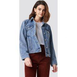 NA-KD Kurtka jeansowa - Blue. Niebieskie kurtki damskie NA-KD, z jeansu. Za 202.95 zł.