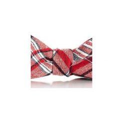 Mucha wiązana SORIA. Czerwone krawaty i muchy Hisoutfit, z materiału, wizytowe. Za 89.00 zł.