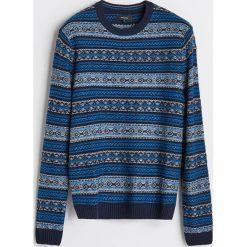 Sweter z domieszką wełny - Wielobarwn. Swetry przez głowę męskie marki Giacomo Conti. W wyprzedaży za 69.99 zł.