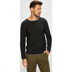 Selected - Sweter. Brązowe swetry przez głowę męskie Selected, z bawełny, z okrągłym kołnierzem. W wyprzedaży za 99.90 zł.