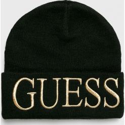 Guess Jeans - Czapka. Czarne czapki i kapelusze damskie Guess Jeans, z dzianiny. Za 139.90 zł.