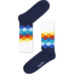 Happy Socks - Skarpety. Niebieskie skarpety męskie Happy Socks, z bawełny. W wyprzedaży za 34.90 zł.