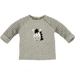 """Koszulka """"Doubleface"""" w kolorze szarym. Szare bluzki dla dziewczynek Bondi, z aplikacjami, z okrągłym kołnierzem, z długim rękawem. W wyprzedaży za 49.95 zł."""