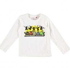 """Koszulka """"Thomas 716"""" w kolorze kremowym. Białe t-shirty dla chłopców marki Lego Wear Fashion, z nadrukiem, z długim rękawem. W wyprzedaży za 59.95 zł."""