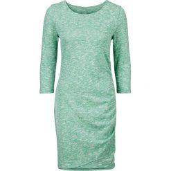 Sukienka shirtowa z założeniem kopertowym bonprix zielony oceaniczny melanż. Sukienki damskie marki MAKE ME BIO. Za 44.99 zł.