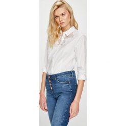 Guess Jeans - Koszula. Szare koszule damskie Guess Jeans, z aplikacjami, z bawełny, eleganckie, z klasycznym kołnierzykiem, z długim rękawem. Za 399.90 zł.