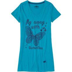 Koszula nocna bonprix ciemnoturkusowy z nadrukiem. Koszule nocne damskie marki MAKE ME BIO. Za 29.99 zł.