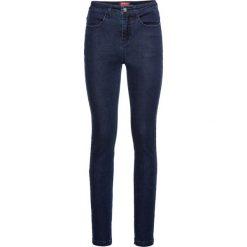 Bardzo miękkie dżinsy z wysoką talią SLIM bonprix ciemnoniebieski. Jeansy damskie marki bonprix. Za 129.99 zł.