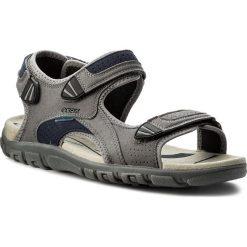 Sandały GEOX - U S.Strada Wf C U6224C 000AF C9M4E  Stone/Blue. Szare sandały męskie Geox, z materiału. W wyprzedaży za 259.00 zł.
