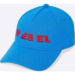 Diesel - Czapka. Niebieskie czapki i kapelusze męskie Diesel. W wyprzedaży za 129.90 zł.