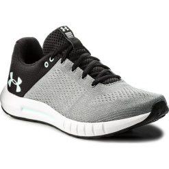 Buty UNDER ARMOUR - Ua Micro G Pursuit 3000101-106 Gry. Czarne obuwie sportowe damskie Under Armour, z materiału. W wyprzedaży za 189.00 zł.