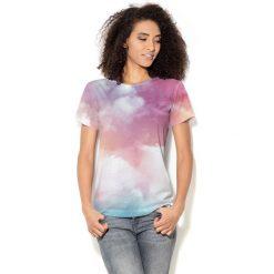 Colour Pleasure Koszulka CP-030  57 różowo-błękitno-biała r. XS/S. Bluzki damskie Colour Pleasure. Za 70.35 zł.