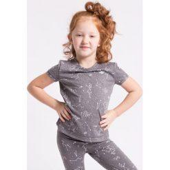 Koszulka sportowa dla małych dziewczynek JTSD302Z - szary melanż. Szare bluzki dla dziewczynek 4F JUNIOR, na jesień, melanż, z dzianiny. W wyprzedaży za 24.99 zł.