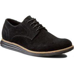 Półbuty CALVIN KLEIN JEANS - Sean Suede SE8471  Black. Czarne półbuty na co dzień męskie Calvin Klein Jeans, z jeansu. W wyprzedaży za 359.00 zł.