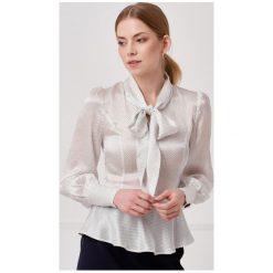 0dde4fa50e31b1 ... Kolekcja lato 2019. Bluzka Loretta jedwabna w groszki 32 biały. Białe  bluzki damskie Marie Zélie, s,