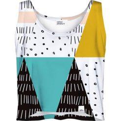 Colour Pleasure Koszulka damska CP-035 22 biało-turkusowo-czarna r. M-L. Bluzki damskie Colour Pleasure. Za 64.14 zł.