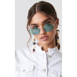 NA-KD Accessories Owalne kolorowe okulary przeciwsłoneczne - Green. Zielone okulary przeciwsłoneczne damskie NA-KD Accessories. Za 40.95 zł.