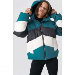 NA-KD Trend Kurtka watowana Block - Green,Multicolor. Zielone kurtki damskie NA-KD Trend, w kolorowe wzory, z materiału. Za 323.95 zł.