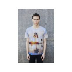 T-shirt The Palm. Szare t-shirty męskie Bahabay, z nadrukiem, z bawełny. Za 83.30 zł.
