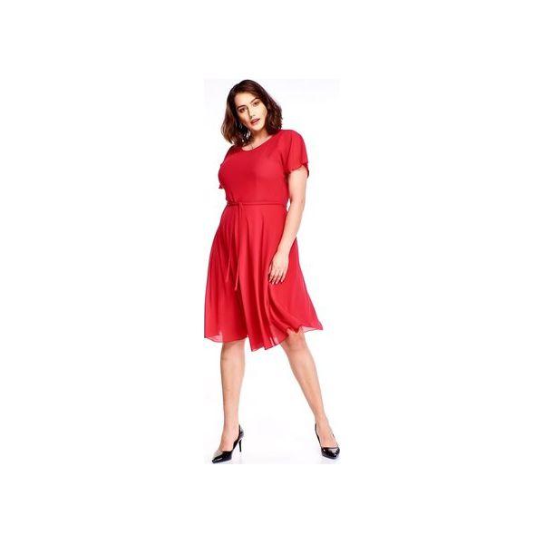 c9a6ebce8e Rozkloszowana sukienka - Czerwone sukienki damskie marki Bird