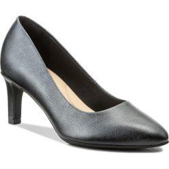 Półbuty CLARKS - Calla Rose 261318574 Black Leather. Czarne półbuty damskie Clarks, ze skóry. W wyprzedaży za 189.00 zł.
