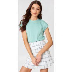 Rut&Circle T-shirt Ella Basic - Green. Zielone t-shirty damskie Rut&Circle, z bawełny. Za 80.95 zł.
