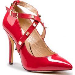 Szpilki MENBUR - 09662 Red 0007. Czerwone szpilki damskie Menbur, ze skóry ekologicznej. Za 259.00 zł.