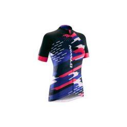 Koszulka krótki rękaw na rower 900 CLOUDS damska. Czarne t-shirty damskie B'TWIN. W wyprzedaży za 119.99 zł.