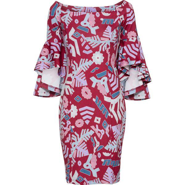 602e3b8dcc Sukienka bonprix ciemnoczerwony wzorzysty - Sukienki damskie marki ...