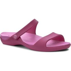 Klapki CROCS - Cleo V 204268 Candy Pink/Party Pink. Czerwone klapki damskie Crocs, z tworzywa sztucznego. Za 129.00 zł.
