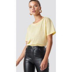 NA-KD Basic T-shirt oversize - Yellow. Żółte t-shirty damskie NA-KD Basic, z bawełny. Za 52.95 zł.