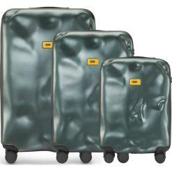 Walizki Icon w zestawie 3 el. zielony. Walizki męskie Crash Baggage, z materiału. Za 2,628.00 zł.