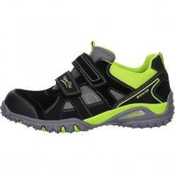 """Skórzane sneakersy """"Sport"""" w kolorze czarno-zielonym. Czarne trampki i tenisówki chłopięce Superfit, z gore-texu, sportowe. W wyprzedaży za 205.95 zł."""
