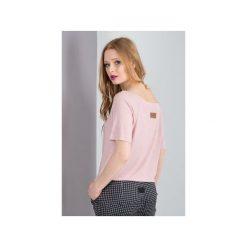 T-shirt damski EVE. Czerwone t-shirty damskie Memola, z elastanu, z dekoltem w łódkę. Za 64.50 zł.
