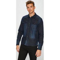 Mustang - Koszula. Czarne koszule męskie Mustang, z bawełny, z klasycznym kołnierzykiem, z długim rękawem. W wyprzedaży za 219.90 zł.