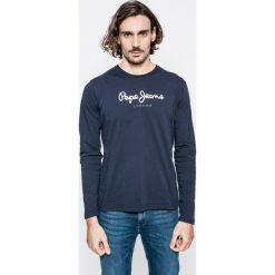 Pepe Jeans - Longsleeve Eggo. Szare bluzki z długim rękawem męskie Pepe Jeans, z nadrukiem, z bawełny, z okrągłym kołnierzem. W wyprzedaży za 89.90 zł.