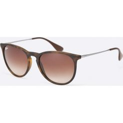 Ray-Ban - Okulary Erika. Szare okulary przeciwsłoneczne męskie Ray-Ban, z materiału. Za 479.90 zł.