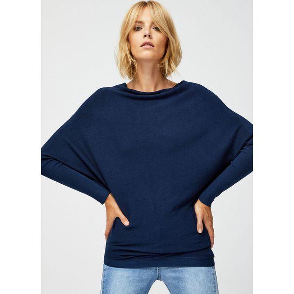 Niebieskie swetry asymetryczne damskie Zniżki do 40