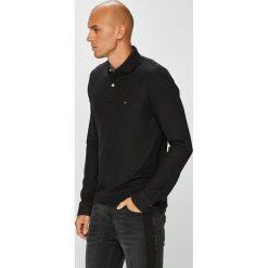 Tommy Hilfiger - Longsleeve. Czarne bluzki z długim rękawem męskie Tommy Hilfiger, z bawełny, polo. Za 299.90 zł.