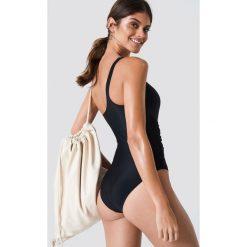 Trendyol Kostium kąpielowy na jedno ramię z wiązaniem - Black. Czarne kostiumy jednoczęściowe damskie Trendyol. Za 80.95 zł.