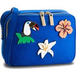 Torebka MENBUR - 44890 Dazzling Blue 0066. Niebieskie listonoszki damskie Menbur, z materiału. W wyprzedaży za 169.00 zł.